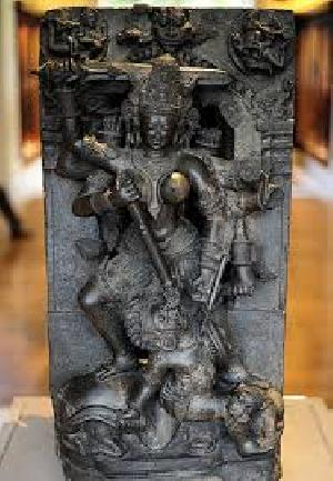 Hindu Goddess Stone Sculptures