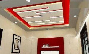 Living Room Gypsum False Ceiling Services