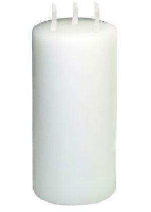 3 Wick White Pillar Candle