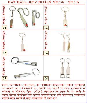 Bat ball key chain