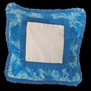 Customised Double Frill Double Fur Square Cushion