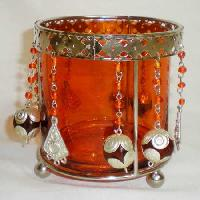 Beaded Votive Candle Holder