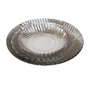 Silver Aluminum Coated Disposable Paper Plates