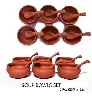Clay Soup Bowl Set