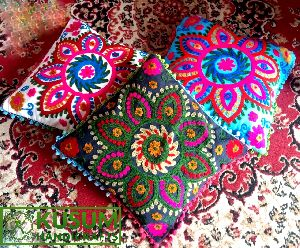 Indian Handmade Embroidered Pillow