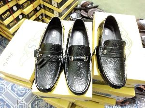 Tpr Sole Leather Loafer Shoes