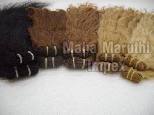 Single Head Glue Stitch Weft Hair