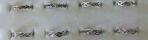 Silver Ladies Oxidised Toe Rings