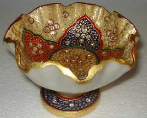 Fruit Bowl Gold Meenakari Work