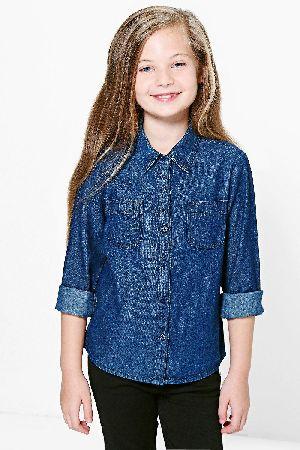 Girls Denim Shirts