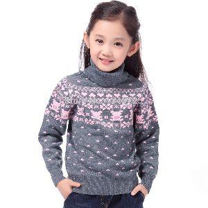 Girls High Neck Sweaters
