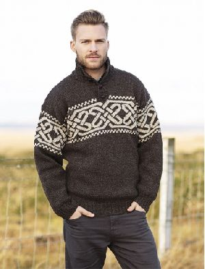 Mens Mock Neck Sweaters