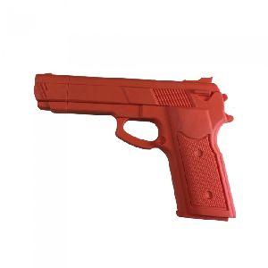 Rubber 7 Inch Training Gun: Orange