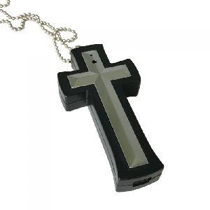 8gb Spy Cross Dvr Necklace