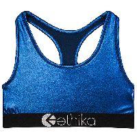 Metallic Blue Sports Bra