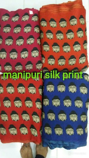 Manipuri Silk Print Fabric Roll