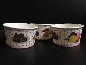100 Ml Ice Cream Plain Paper Cup Box