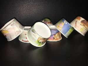 50 Ml Ice Cream Multi Color Paper Cup