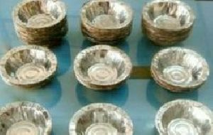 Paper Bowls, Paper Dona, Silver Paper Bowl