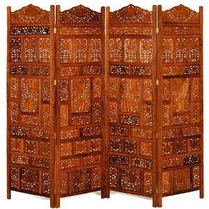 Wooden Shesham Screen 4 Panel - 8042