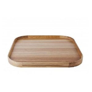 Plain Wooden Serving Tray