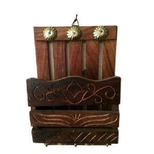 Wooden Hanging Utensil Holder