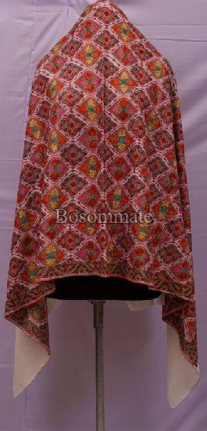 Ladies Cream Pashmina Shawls