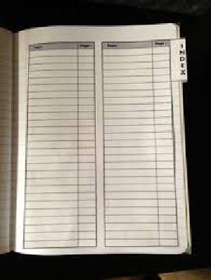 Index Notebook