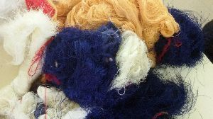 Colour Viscose Silk Waste