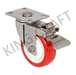 Stainless Steel Die Pressed Caster On Pu Wheels