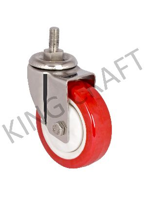 Stainless Steel M12 Treaded Casters Wheels