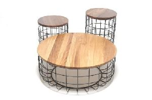 Wire Wood Tables