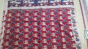 Kalamkari Mul Cotton Saree With Blouse