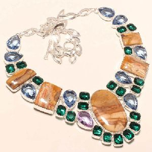 Multicolor Gemstone Beaded Necklace