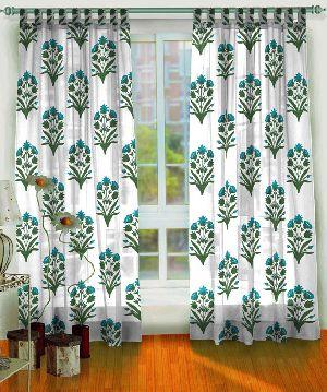 Pure Cotton Semi Transparent Curtains