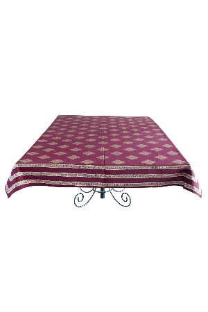 Cotton printed 60x90 inch Table Cover