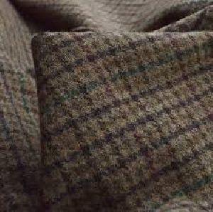 Woolen Checkered Fabric