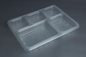 5 Compartments Disposable Plastic Tray