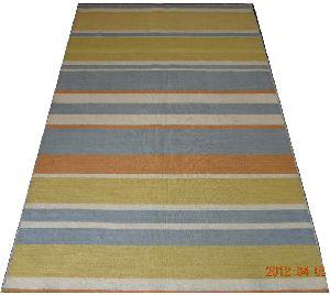 Wool Handloom Strip Durries