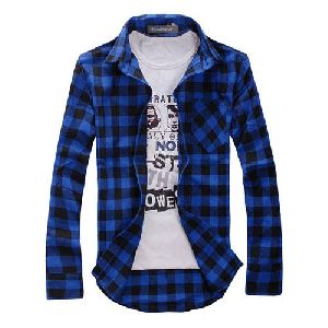 Mens Full Sleeves Check Shirts