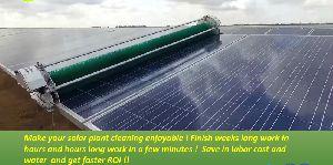 Robotic Solar Panel Cleaning