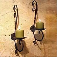 Iron Hanging Candle Holders