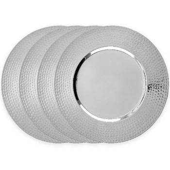 Stainless Steel Silver Charger Plates