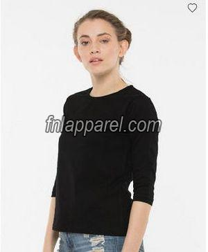 Jet Black Round Neck T-Shirt