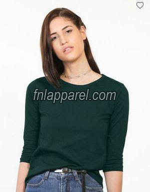 Pine Green Round Neck T-Shirt