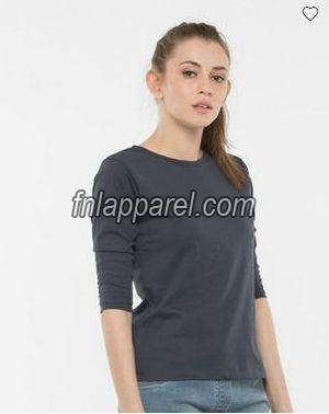 Stone Grey Round Neck T-Shirt