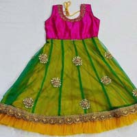 Girls Silk Frock