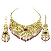 Choker Bridal Necklace Set