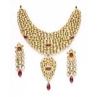 Designer Polki Necklace Set