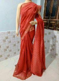 Exclusive Of Pure Linen Silk Saree